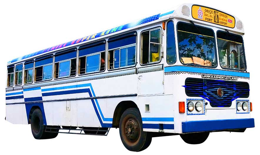 Colombo airport to colombo city bus 187
